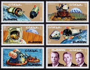Ajman Mi #755-760 set/6 mnh - 1971 space - Apollo 14, Shepard, Roussa, Mitchell