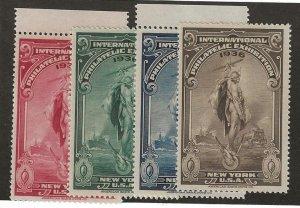 1936 International Philatelic Exhibition New York MNH Set/4