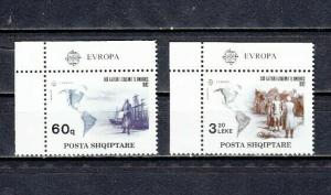 Albania, Scott cat. 2421-2422. Europa-Explorer Christopher Columbus issue.