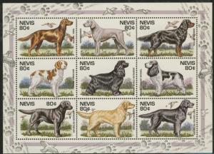 Nevis 907 MNH Dogs, Birds