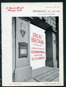 1952 Robson Lowe Specialised Great Britain Auction Catalogue (BK#34).