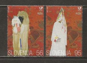 Slovenia Scott catalog # 478-479 Mint NH