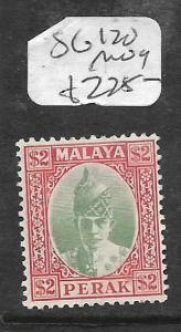 MALAYA PERAK (P0612B) SULTAN $2.00 SG 120  MOG