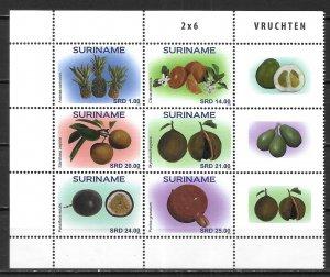 Surinam 1544 Nuts block MNH