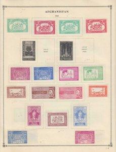 Afghanistan Alte Interessante Sammlung auf Album Seiten Z408