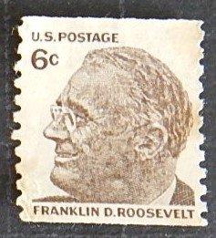 US, Franklin Roosevelt  6c, #1305, (1227-Т)