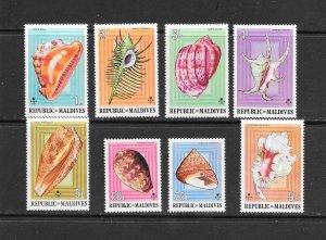 SHELLS - MALDIVES #533-40  MNH