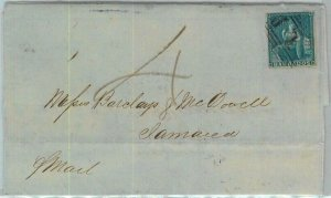 BK0404 - BARBADOS - POSTAL HISTORY -  VERY EARLY Cover to JAMAICA 1859