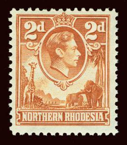 NORTHERN RHODESIA Scott #31 (SG 31) 1938 KGVI unused HR