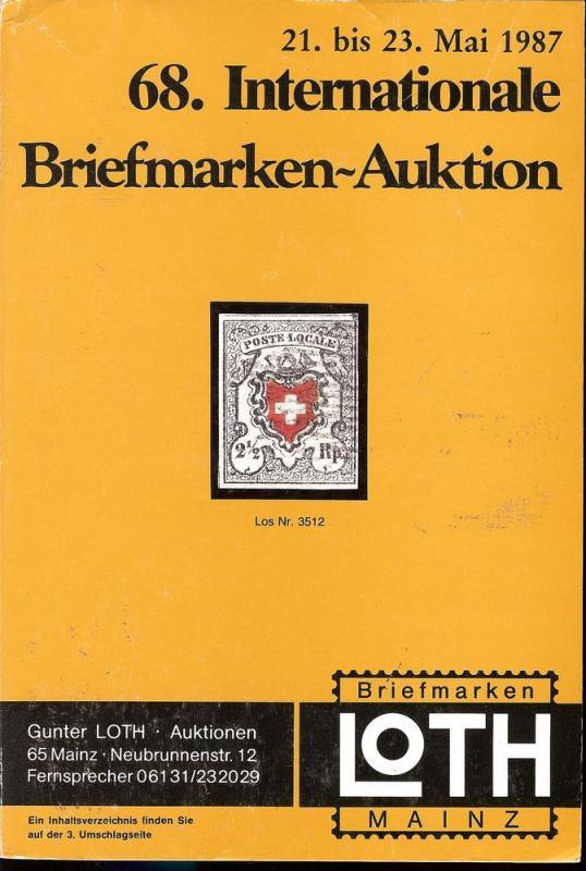 68. Loth-Briefmarken-Auktion: Internationale Briefmarkena...