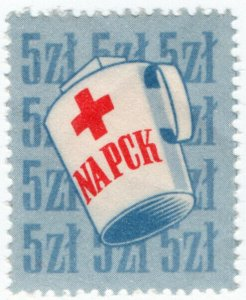 (I.B-CKK) Poland Cinderella : Red Cross Fund 5z
