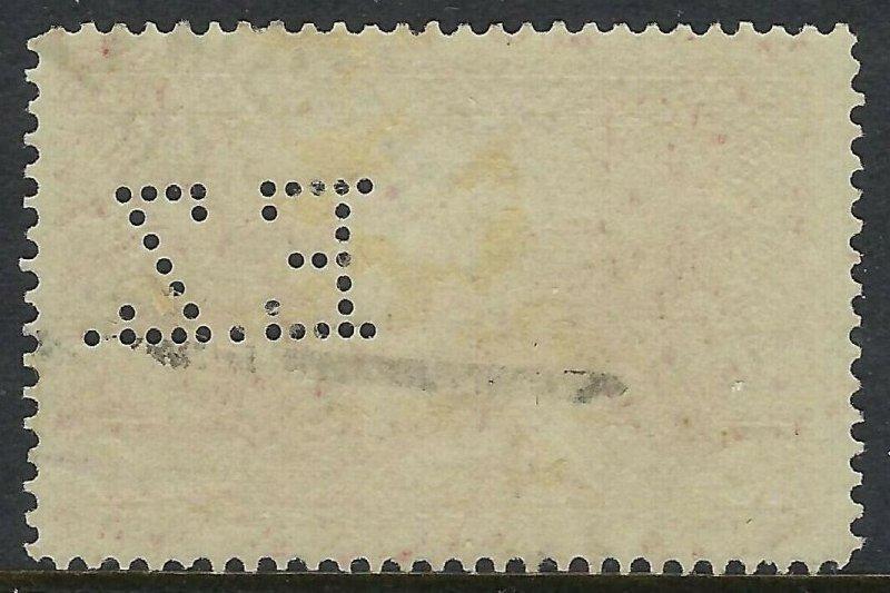 BOSNIA Scott 35, 10 heller, Complete Perfin Pattern A5-EZ: Eisenindustrie Zenica