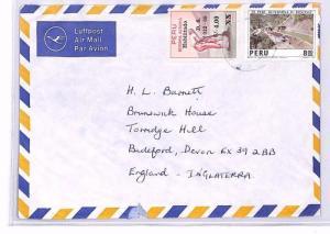 PERU Casilla GB Devon Airmail Cover 1970s XX206