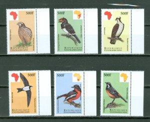 CENTRAL AFRICAN REP.  1999  BIRDS  #1229-34 SET MNH...$11.00