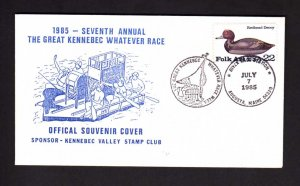 ME 7th Annual Great Kennebec River Whatever Race Augusta Maine Cover Stamp