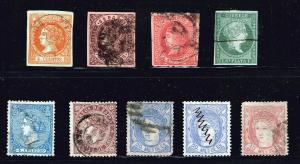 SPAIN STAMP OLD USED STAMP COLLECTION LOT #W1