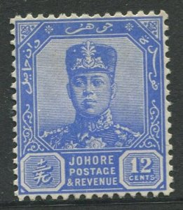 STAMP STATION PERTH Johore #111A Sultan Ibrahim Definitive Wmk 4  MNG 1921-1940