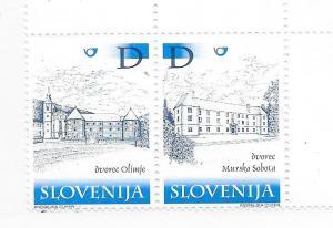Slovenia #414-415 buildings  (MNH) CV $3.00
