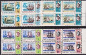 PITCAIRN 1967 Discovery set blocks of 4 MNH.................................3489