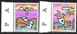Faroe Islands. 1986. 134-35. Ecology, Europe-Sept. MNH.