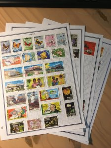 Collection of Djibouti stamps