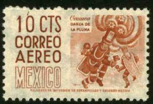 MEXICO C187 10cents 1950 Definitive 1st Printing wmk 279 MNH