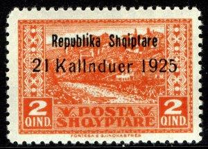 Albania #172  MOG - Gjirkaster Overprinted (1925)