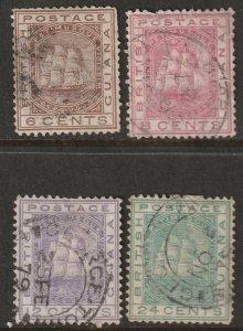 British Guiana 1876 Sc 75-8 partial set used