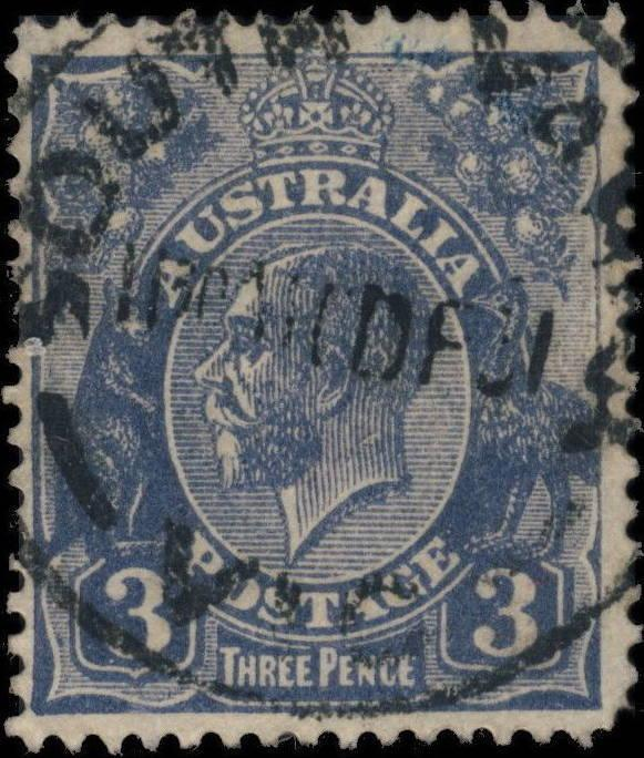 AUSTRALIA - 1931 - CDS OF SOUTH YARRA, VIC ON SG100b 3d die II
