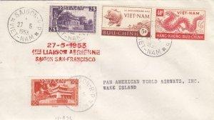 1953, Saigon, Vietnam to Wake Island, 1st Flight, See Remark (40034)