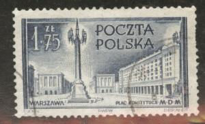 Poland Scott 596 used 1953 stamp