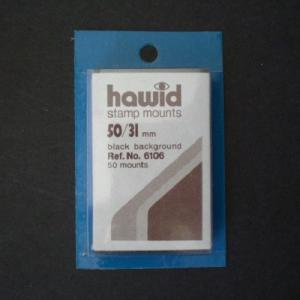 Hawid Stamp Mounts Size 50/31 BLACK Pack of 50