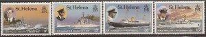 St Helena - 1987 Ships of Royal Visitors - 4 Stamp Set MNH - Scott #475-8