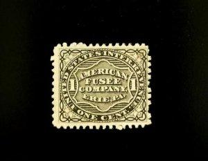 American Fusee Company U.S. Internal Revenue 1c RO9d Private Die, Proprietary