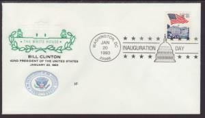 Bill Clinton 1st Term Inauguration 1993 House Farnam U/A