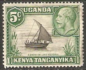 Kenya Uganda Tanganyika 1935 Scott 47 King George V MLH