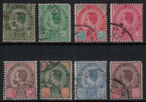Thailand #75-7,80-1,3-5  CV $14.75