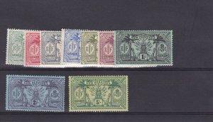 DB754) New Hebrides 1911 Definitives SG 18/28 complete mint lightly hinged