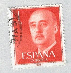 Spain General Franco orange 1p (AP126801)