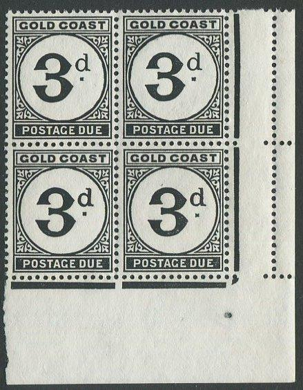 Gold Coast J6 Mint NH LR corner block. $1 combined shipping