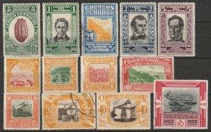 Ecuador 1930 Sc 304-16 complete set MH*/used