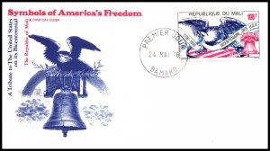 Mali C277 US Bicentennial Fleetwood U/A FDC