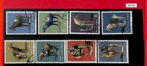 94765 - PRC CHINA - STAMPS - MICHEL # 608-15 USED  1961 Tang  Pottery HORSES