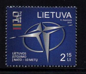 Lithuania Sc 1021 2014 NATO Admission stamp mint NH