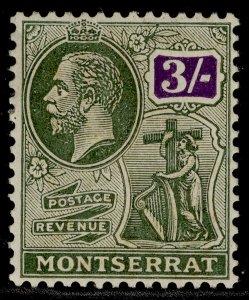 MONTSERRAT GV SG81, 3s green & violet, M MINT. Cat £12.