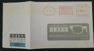1967 Stockholm Sweden Zeiss Reflex Free Glasses Windowed Advertising Cover
