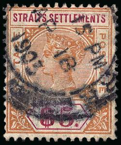 Straits Settlements Scott 43-88 Gibbons 95-105 Used Set of Stamps