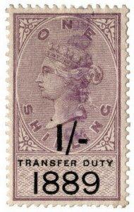 (I.B) QV Revenue : Transfer Duty 1/- (1889)