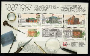 Canada Sc 1125a 1987 CAPEX stamp sheet mint NH