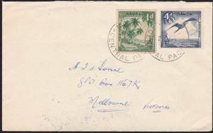 NAURU 1962 commercial cover to Melbourne - nice franking....................7008